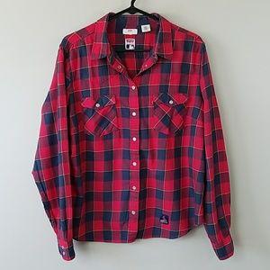 Levi's St Louis Cardinals Plaid Snap Front Shirt
